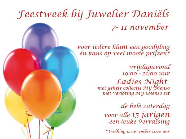 15 jaar Juwelier Daniëls Feestweek