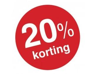 20% korting op horloges