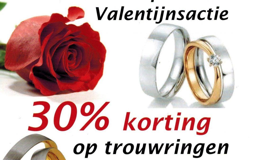 30% op alle trouwringen